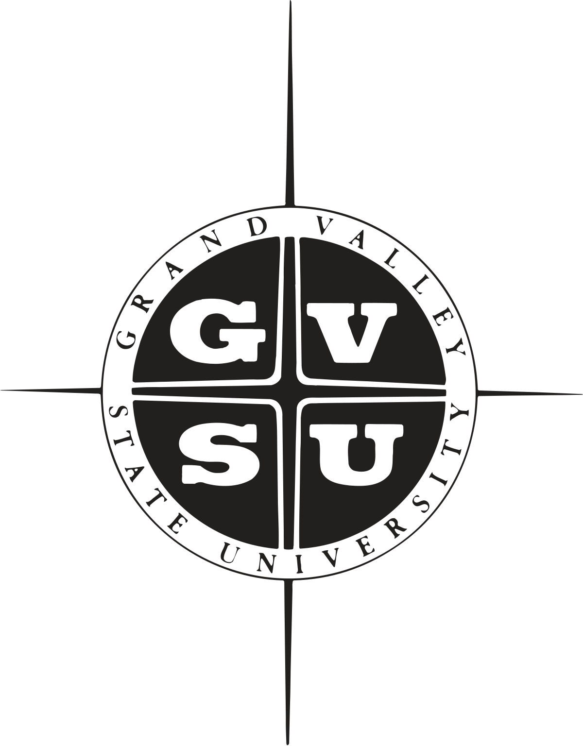 Valley vector black and white. Grand state university wikipedia