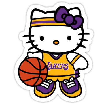 Lakers drawing original. Hello kitty loves the