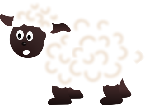 Sheep cartoon grazing goat. Mask clipart lamb graphic library stock