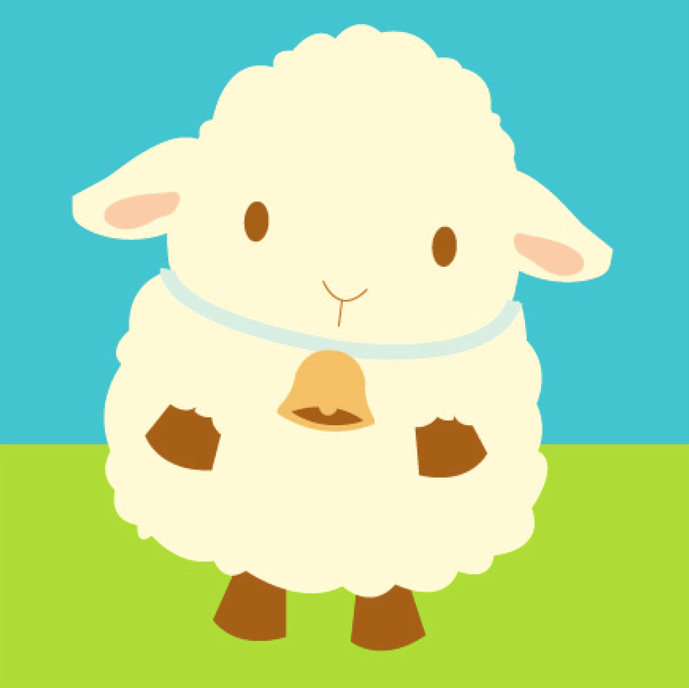 Lamb clipart baptism. Cute sheep fluffy sheepy