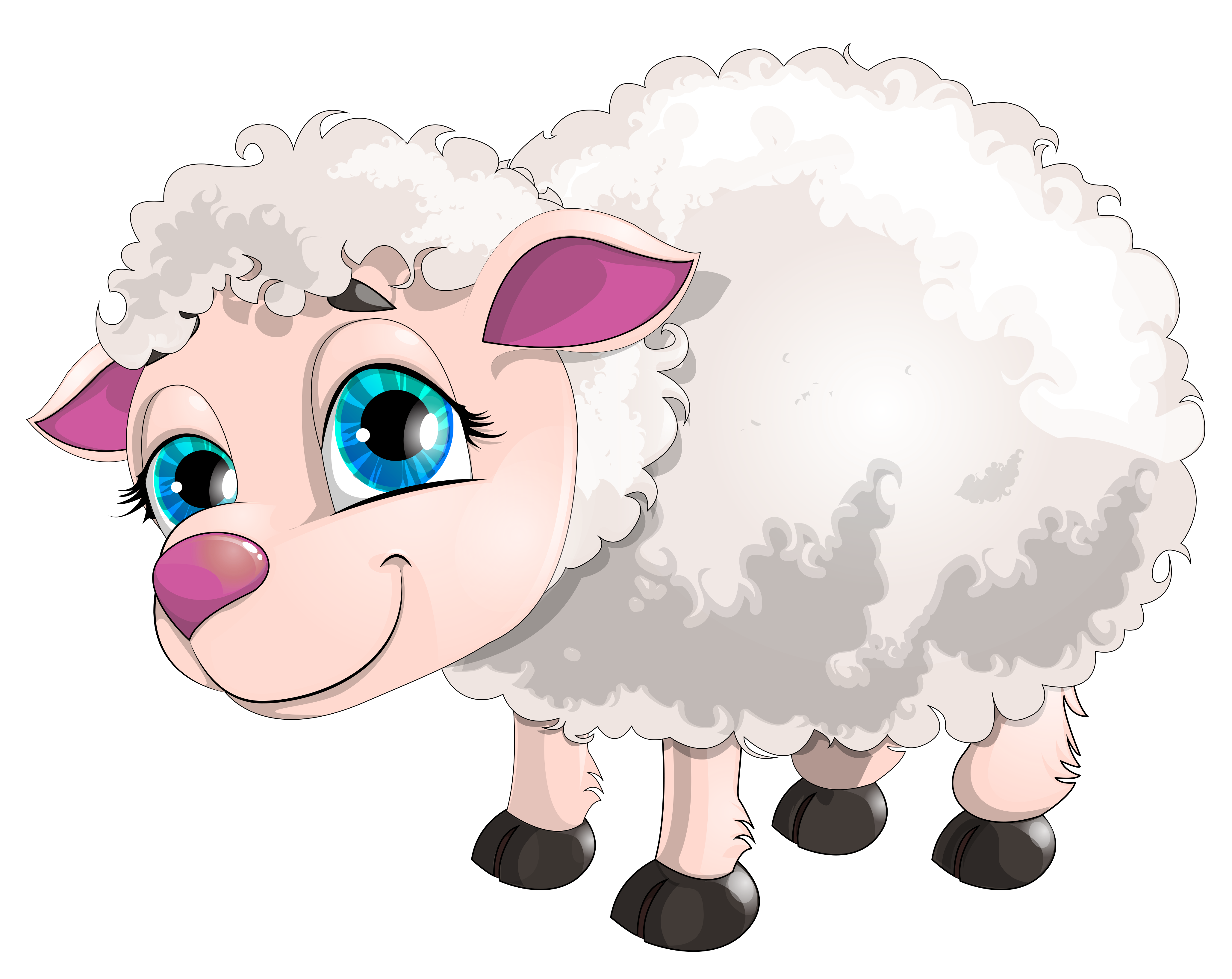 Lamb clipart easter. Cute white png picture
