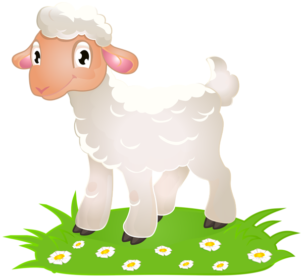 Lamb clipart png. Easter with grass clip