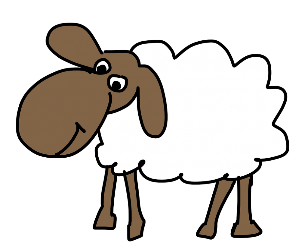 Lamb clipart two. Free easter sheep page