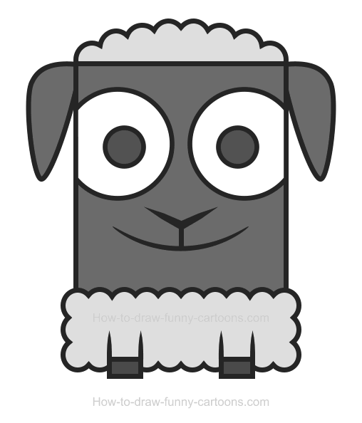 Lamb clipart two. How to draw a