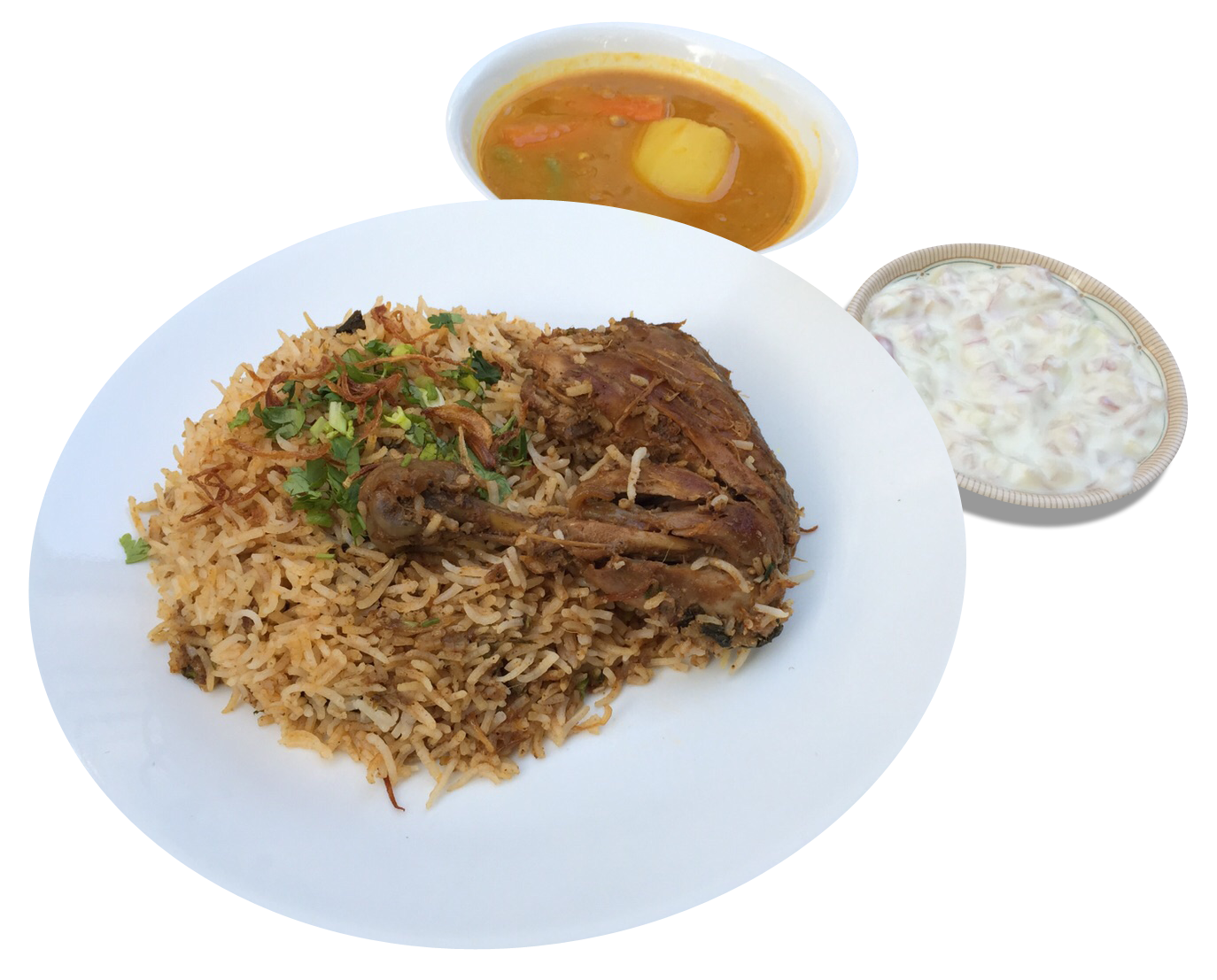 Lamb over rice png. Heritage briyani chicken fried