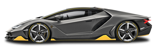 Lambo transparent side view. Black lamborghini centenario lp