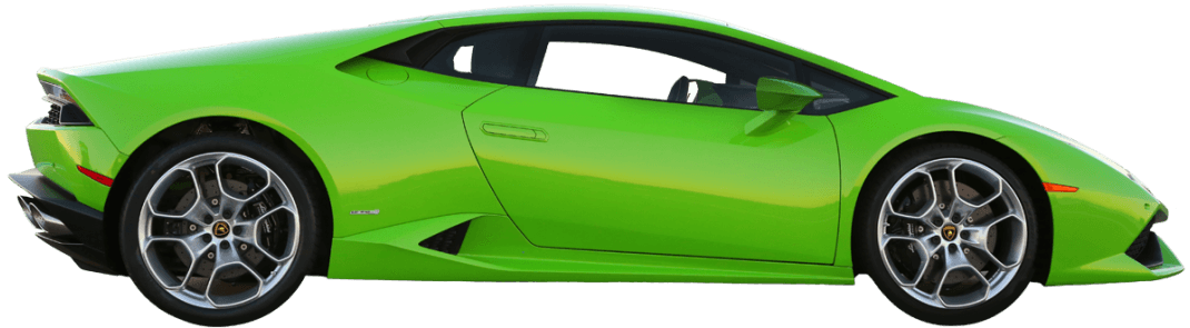 Lambo transparent side view. Drive a lamborghini huracan