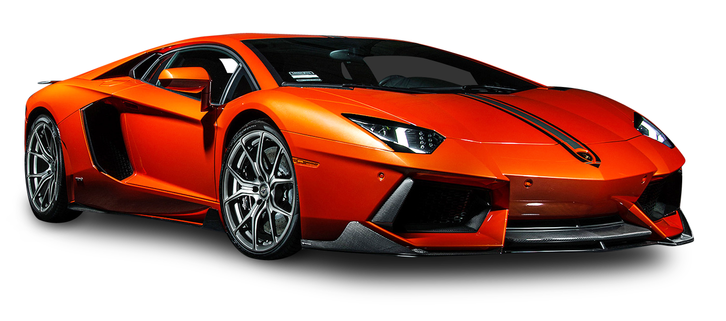 Lamborghini gallardo png. Orange aventador coupe car
