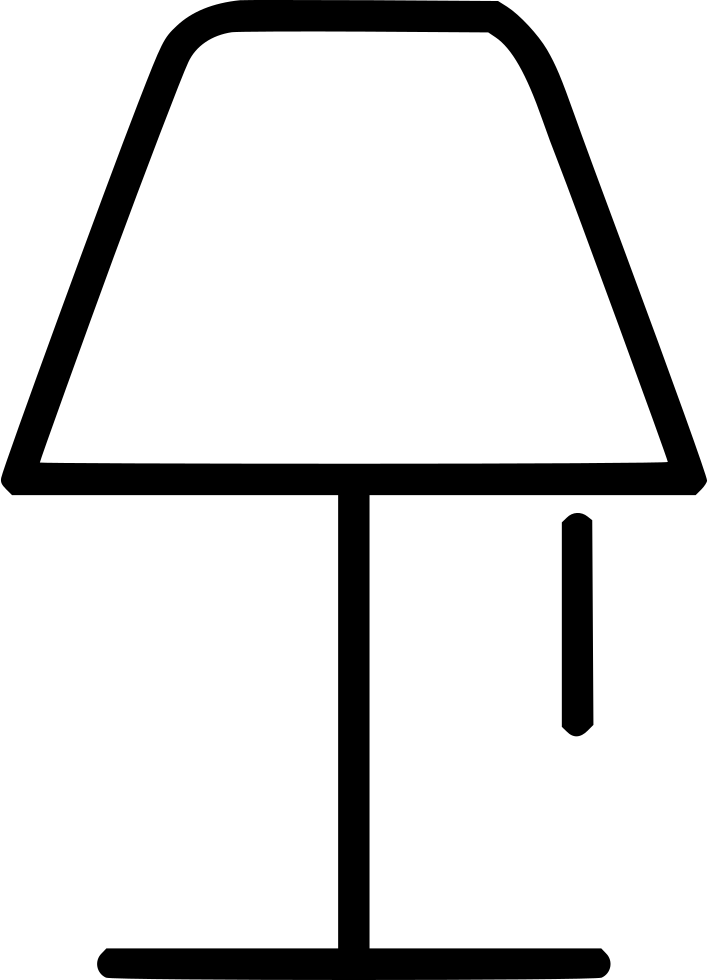 Lamp clipart bed lamp. Svg png icon free
