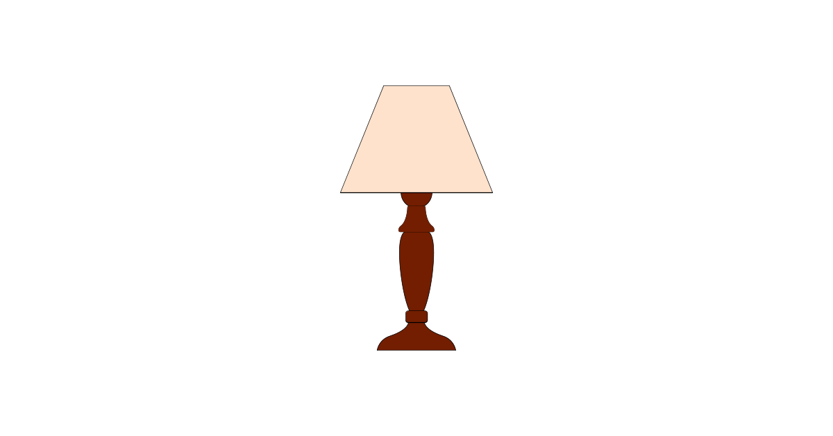 Lamp clipart file. Table vector and png