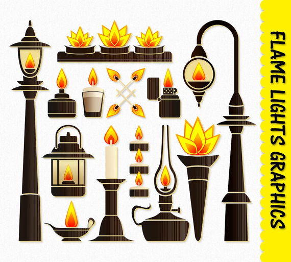 Lamp clipart file. Fire flame lights clip