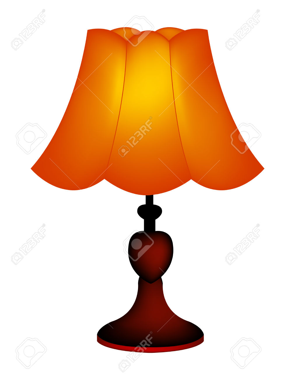 Lamp clipart outdoor lamp. Table pencil and in