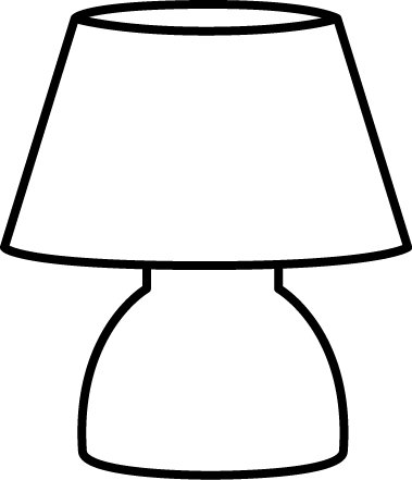 Lamp clipart small table. Lighting clip art images
