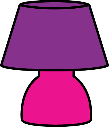 Lamp clipart small table. Purple