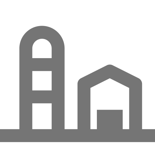 Land vector countryside. Building barn icon with