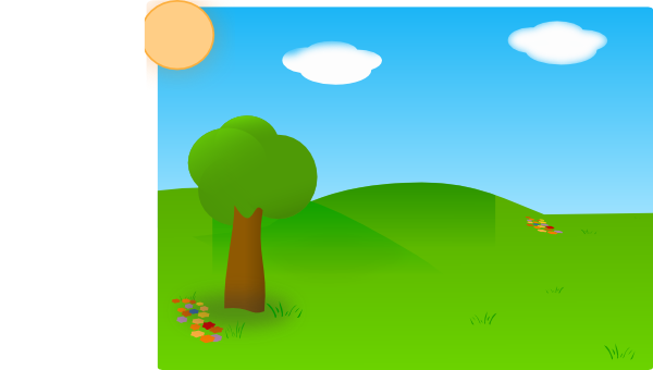 Land vector grassland. Clipart farming field cute