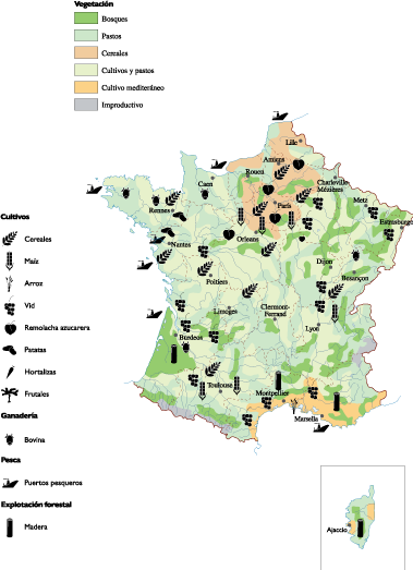 Land vector use. France map world maps