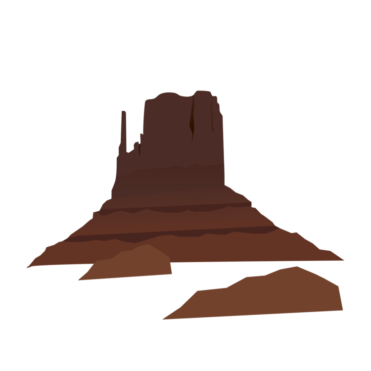 Land vector mountain scenery. Desert club landscape mountains