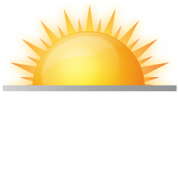 Land vector sun. Iconsland weather by icons