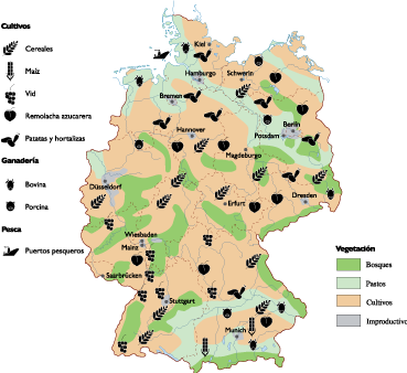 Land vector use. Germany map a eps