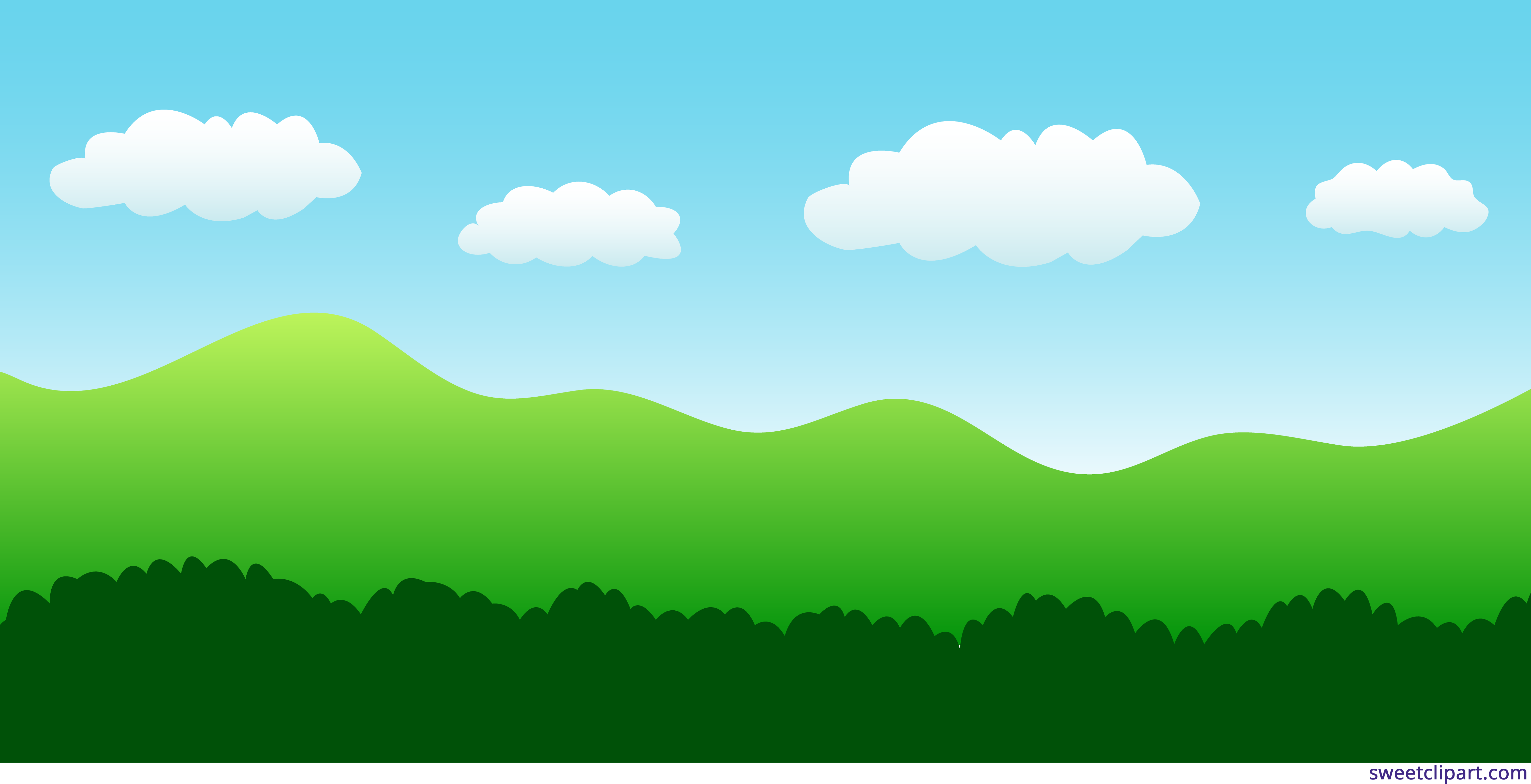 Landscape channel. Nature clipart png library