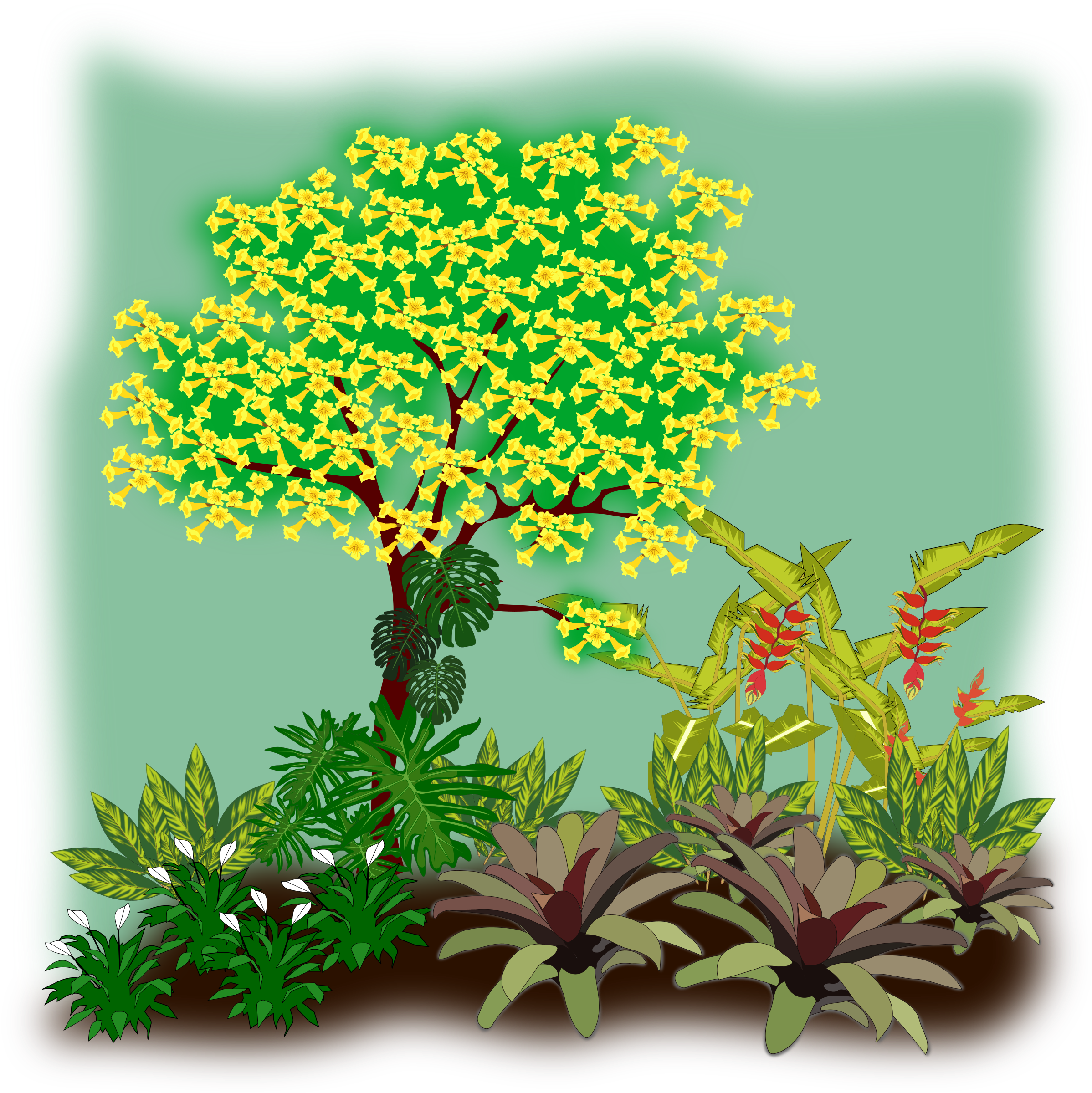 Landscaping drawing art. Free cliparts download clip
