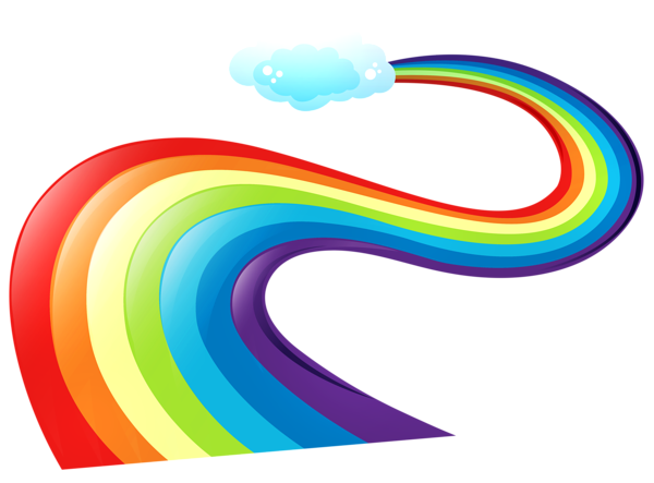 Landscape clipart rainbow. Pin by fth fthunl