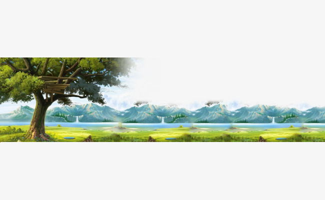 Background green blue forest. Landscape clipart sky clipart free stock