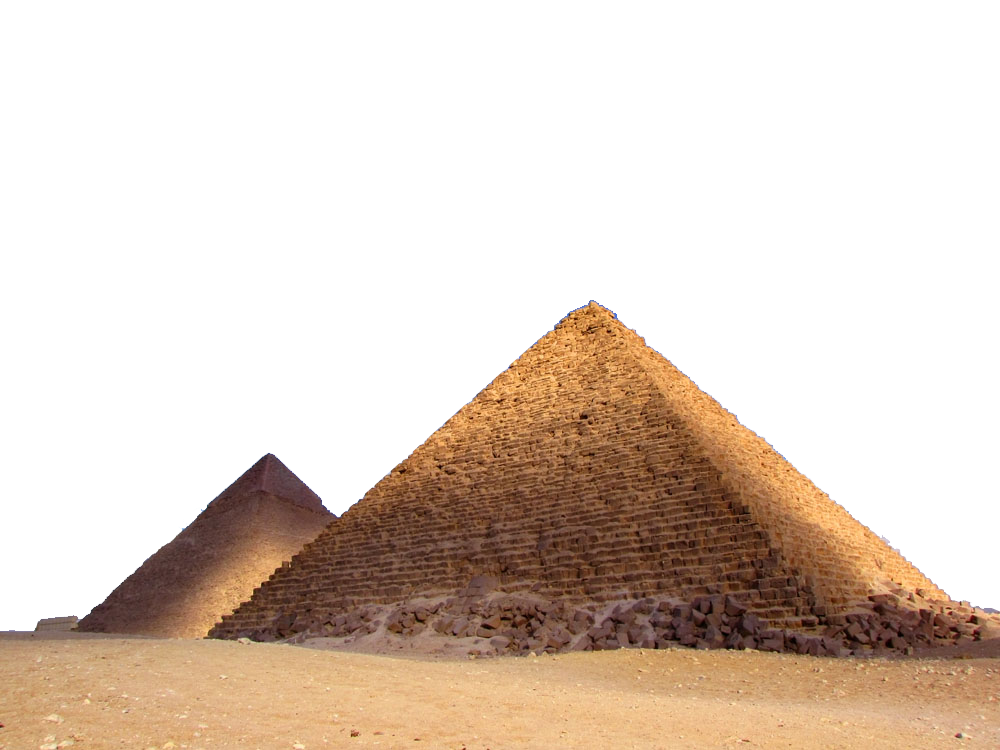 Landscape png soil. Pyramid of menkaure egyptian
