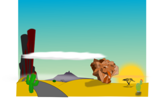 Season clipart scenery. Cartoon desert landscape clip