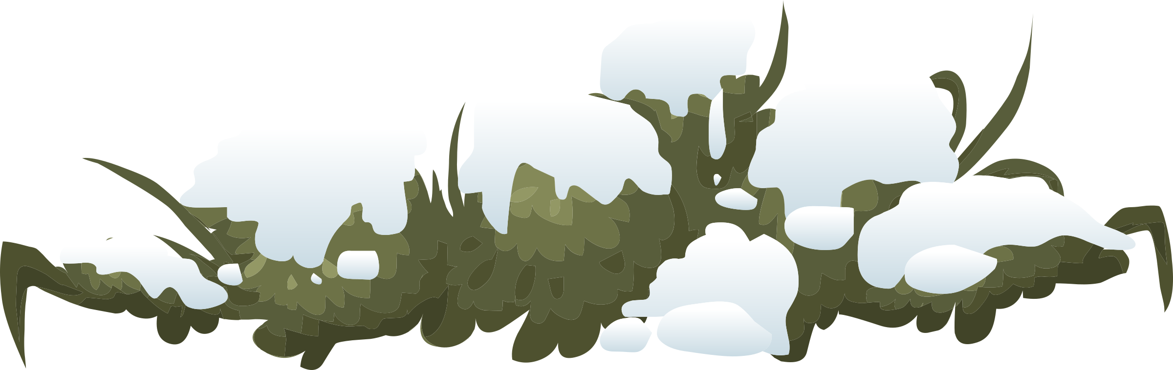 Bush clipart landscape. Alpine snow c al