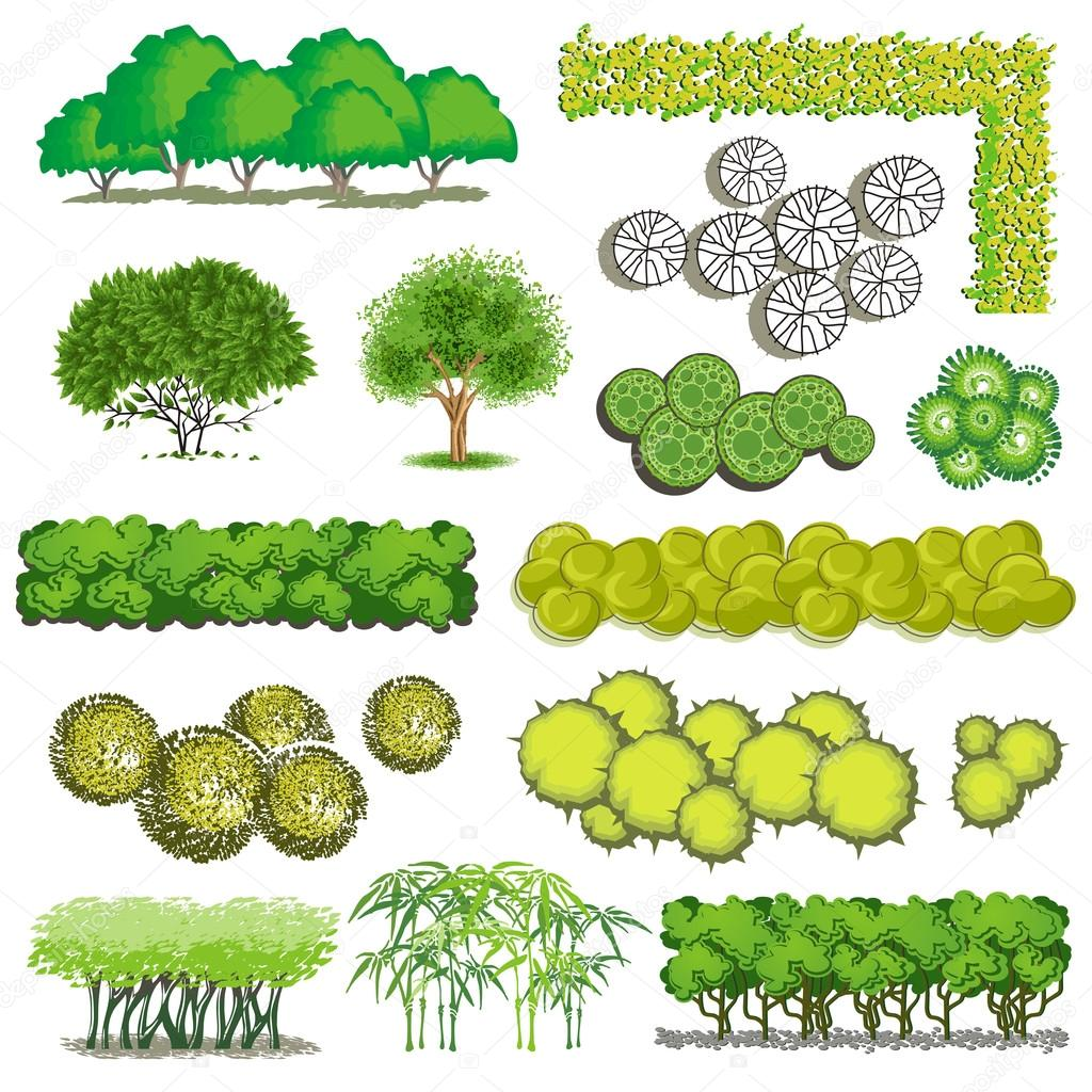 Landscaping clipart bush. Trees and item top