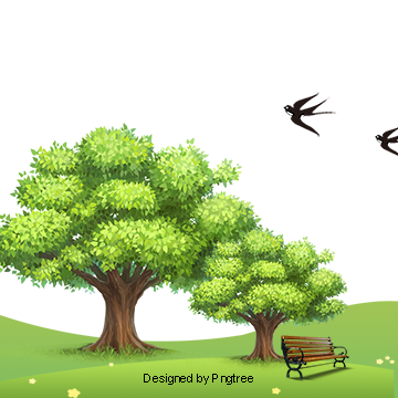 Vector nature natural scene. Landscape png vectors psd
