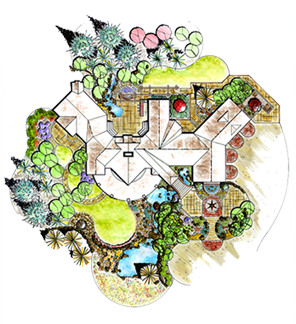 Landscaping drawing map. Landscape design build lindgren