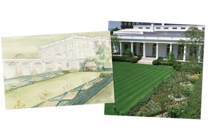Landscaping drawing vintage. How bunny mellon re