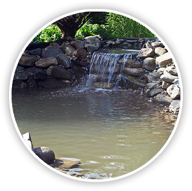 Landscaping drawing waterfall. Transforming your prolawn shippensburg