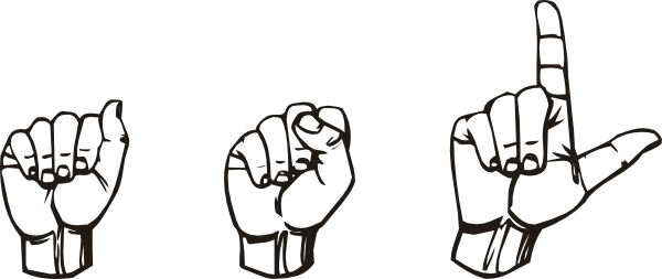 Netflix drawing clip art. Sign language clipart library