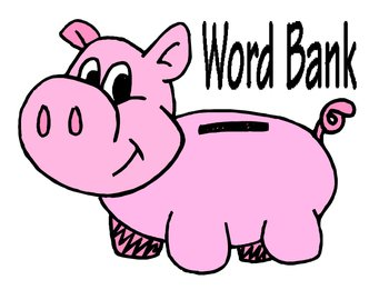 Spelling clipart word bank. Vocabulary poster by the