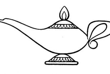 Lantern clipart aladdin. Genie lamp drawing lovesoven