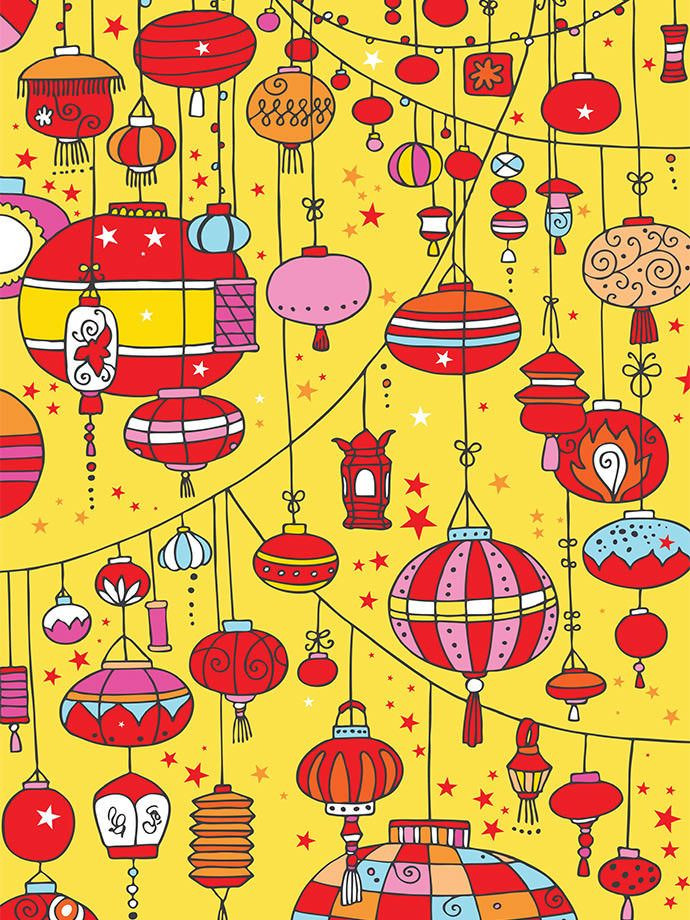 Lantern clipart diy. Awesome chinese extra paper