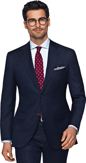 Lapel clip navy suit. How to buy your