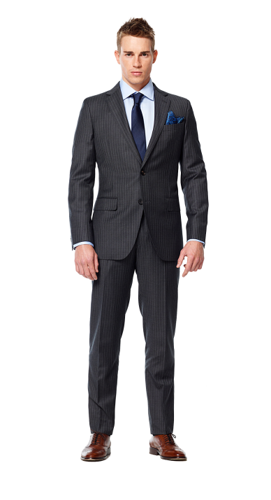 Gray pin stripe with. Lavalier clip charcoal suit vector black and white