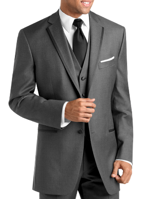 Black by vera wang. Lavalier clip charcoal suit picture black and white library
