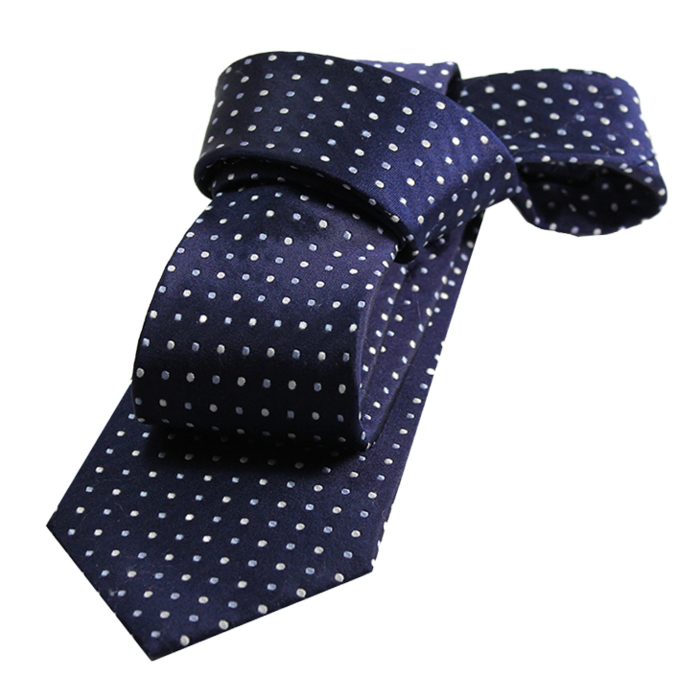Lapel clip polka dot. Ties the dark knot