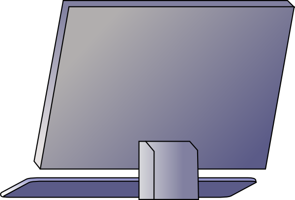 Back of computer monitor png. Laptop clipart side free