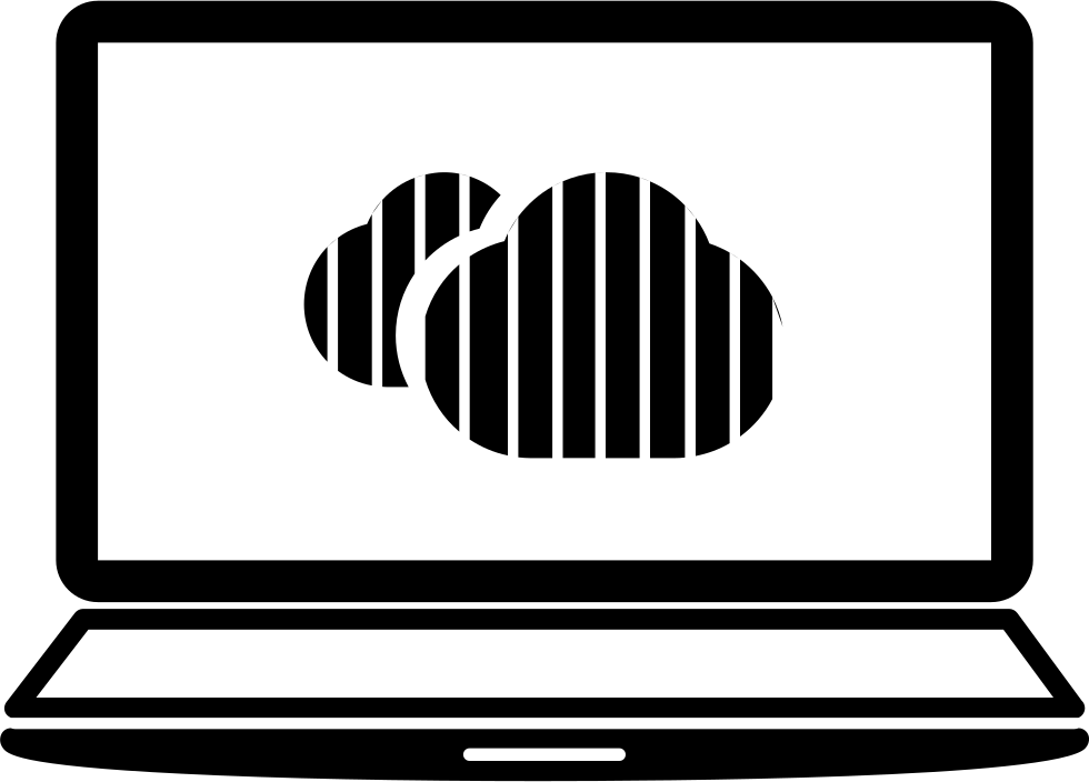 Laptop svg animation. Connected to cloud png
