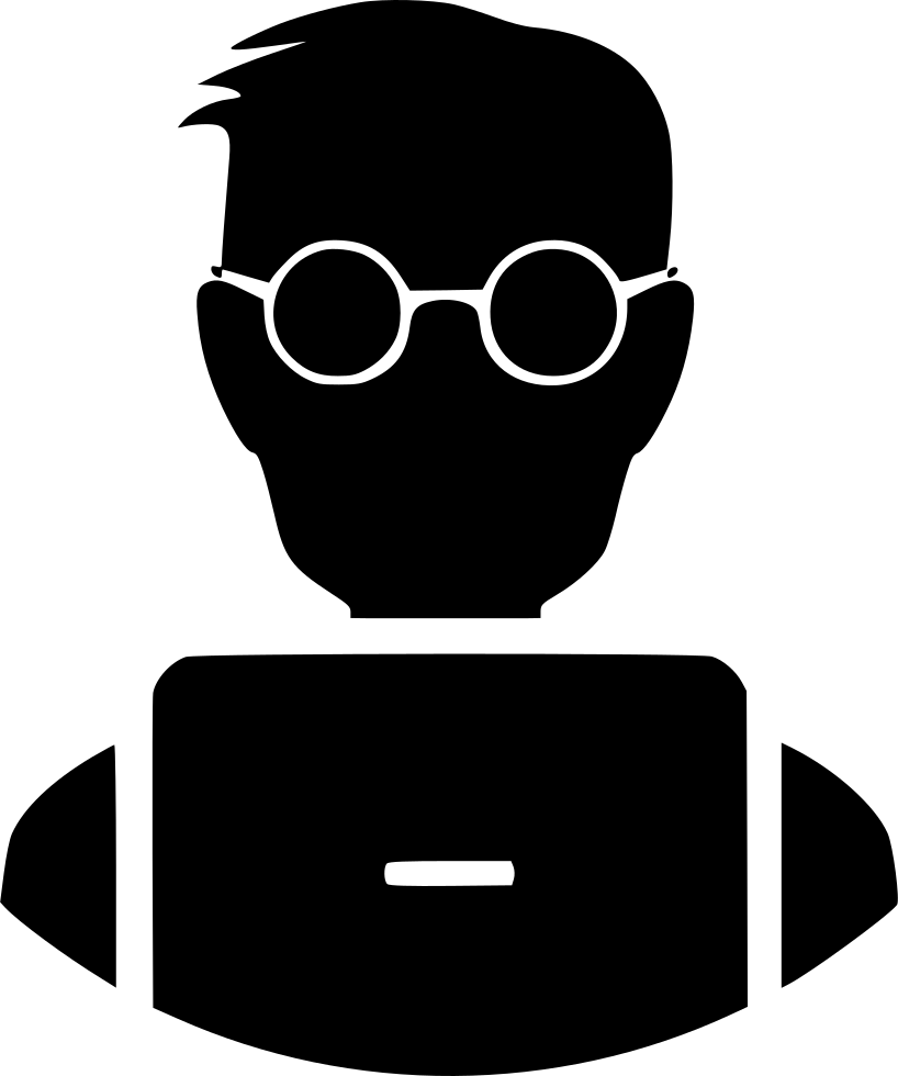 Laptop svg animation. Student nerd png icon