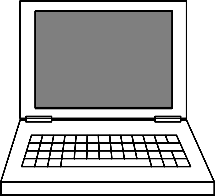 Laptop svg draw. Clip art free vector