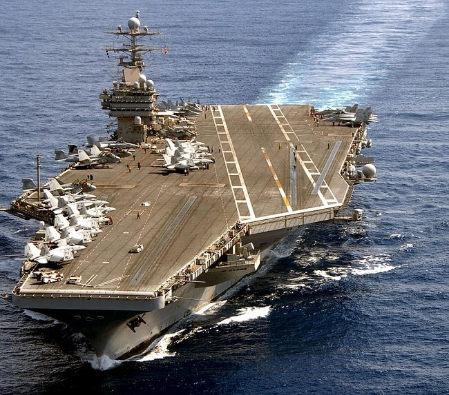 Large aircraft carrier. Top biggest carriers in