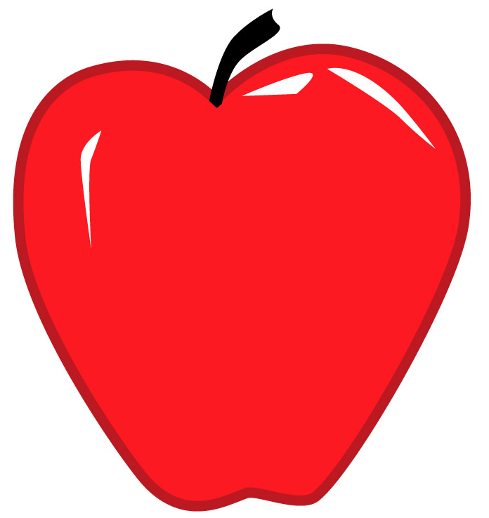Large apple. Red clipart free images